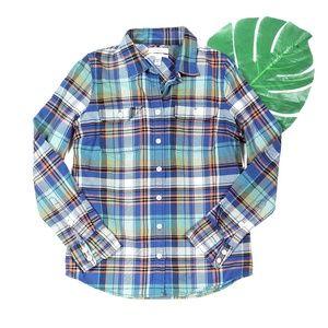 J.Crew Boyfriend Fit Plaid Button Up Shirt